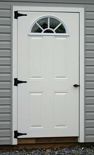 Entry Door Options One Half Moon Window Lakeview Sheds
