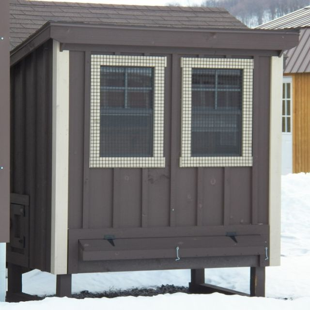 4x6 Chicken Coop - Brown
