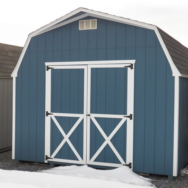 12x14 High Barn - Classic Blue