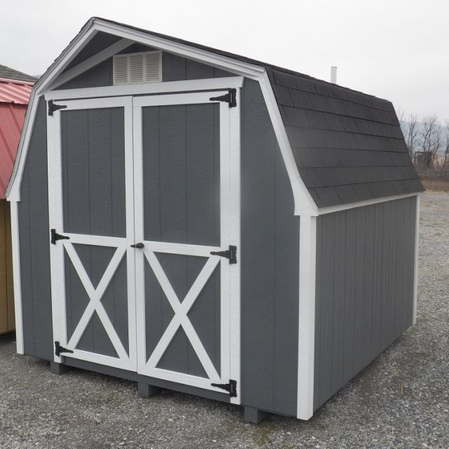 8x8 Mini Barn - Gray