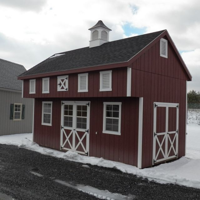 12x20 Old Bank Barn - Red