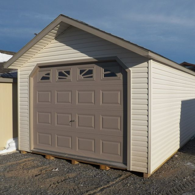 12x20 Cottage Garage - Cream Vinyl