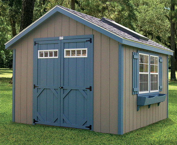 garden sheds with the proper accessories for example many of our customers add a skylight and larger windows to our standard cottage shed - Garden Sheds With Windows